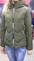 Куртка женская с капюшоном цвет хаки