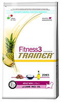 Корм для мини-собак Trainer Fitness3 Adult Mini Lamb, Rice & Oil