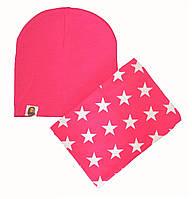 Шапка осенняя детская и шарф хомут для девочки