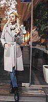 Женское  пальто кашемировое с поясом новинка 2017