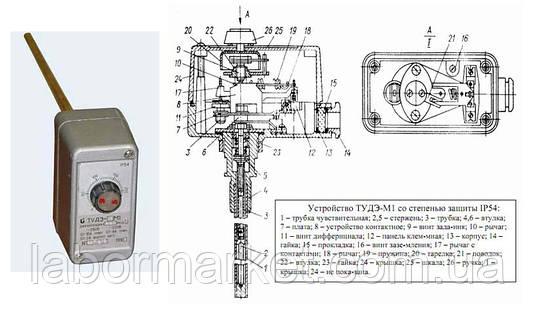 Устройство терморегулирующее дилатометрическое электрическое ТУДЭ-8М1