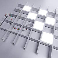 Комплект светильников 6шт грильято VLG 40Вт 100х100мм, фото 1