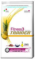 Корм для собак Trainer Fitness3 Adult Medium & Maxi Lamb, Rice & Oil
