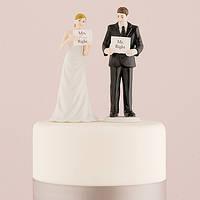 "Фигурка на свадебный торт ""Мистер и миссис"""