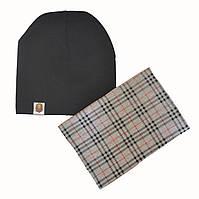Комплект шапка и хомут детский весенний