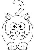 Виниловая наклейка детская (котик ) (от 20х15 см)