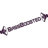 Наклейка на авто-BassBoosted (разные цвета) (от 4х20 см)
