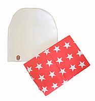 Комплект шапка и хомут детский весенний  для девочки