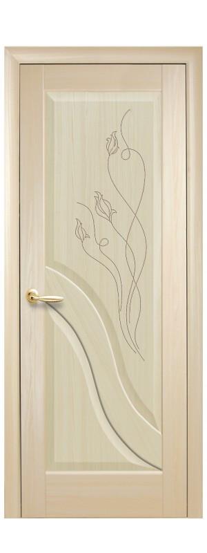Двери межкомнатные Амата гравировка