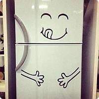 Виниловая наклейка на холодильник (ням-ням) набор от 23х15 см