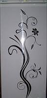 Виниловая наклейка на холодильник (Узор) от 50х35 см