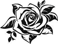 Виниловая наклейка- Роза (от 15х15 см)