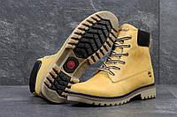 Мужские ботинки Timberland. Натуральные нубук и мех. Рыжие