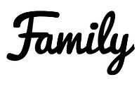 Виниловая наклейка-Family (от 4х15 см)