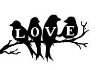 Виниловая наклейка-LOVE