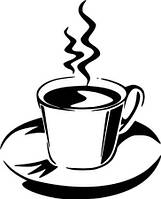 Виниловая наклейка-(чашка чая )