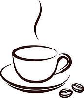 Виниловая наклейка- (чашка кофе)