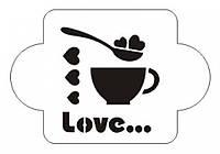 Виниловая наклейка-( кофе Love)