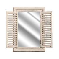 Зеркало в виде окна со ставнями