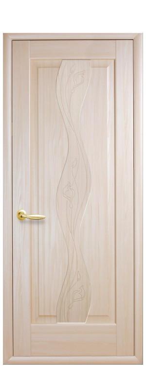 Двери межкомнатные Волна гравировка
