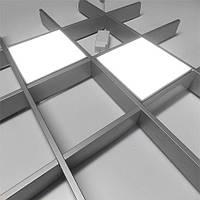 Комплект светильников грильято 2шт VLG 28Вт 150х150мм, фото 1