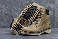Мужские ботинки Timberland. Натуральные нубук и мех. Оливковый