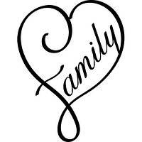 Виниловая наклейка - (семья)