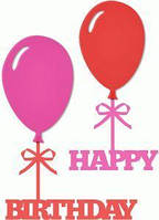 Виниловая наклейка - шарики( С Днем Рождения)