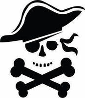 Виниловая наклейка - Пират