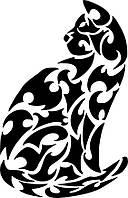 Виниловая наклейка- кот с узора