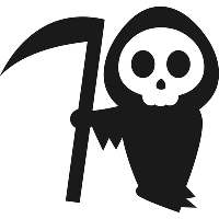 Виниловая наклейка - Смерть с косой (от 15х15 см)
