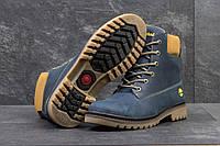 Мужские ботинки Timberland. Натуральные нубук и мех. Синие
