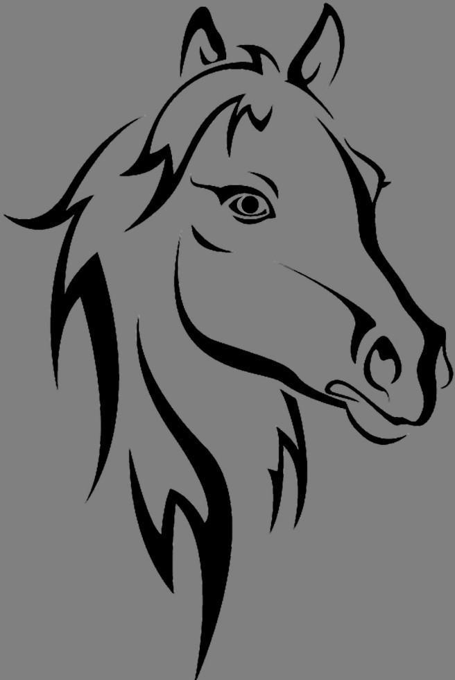 Вінілова наклейка Кінь (від 15х7 см)