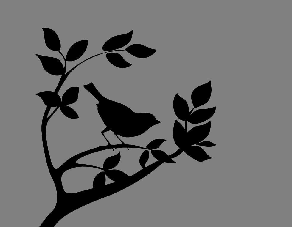 Виниловая наклейка Птица (от 10х10 см)