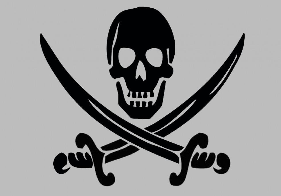 Виниловая наклейка на телефон - Пират 2