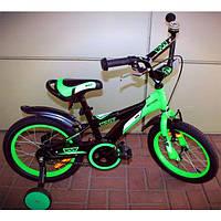 """Велосипед детский 16"""" VNV 2016 Motion, черно-зеленый"""