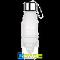 Спортивная бутылка - соковыжималка для воды и напитков H2O Белый