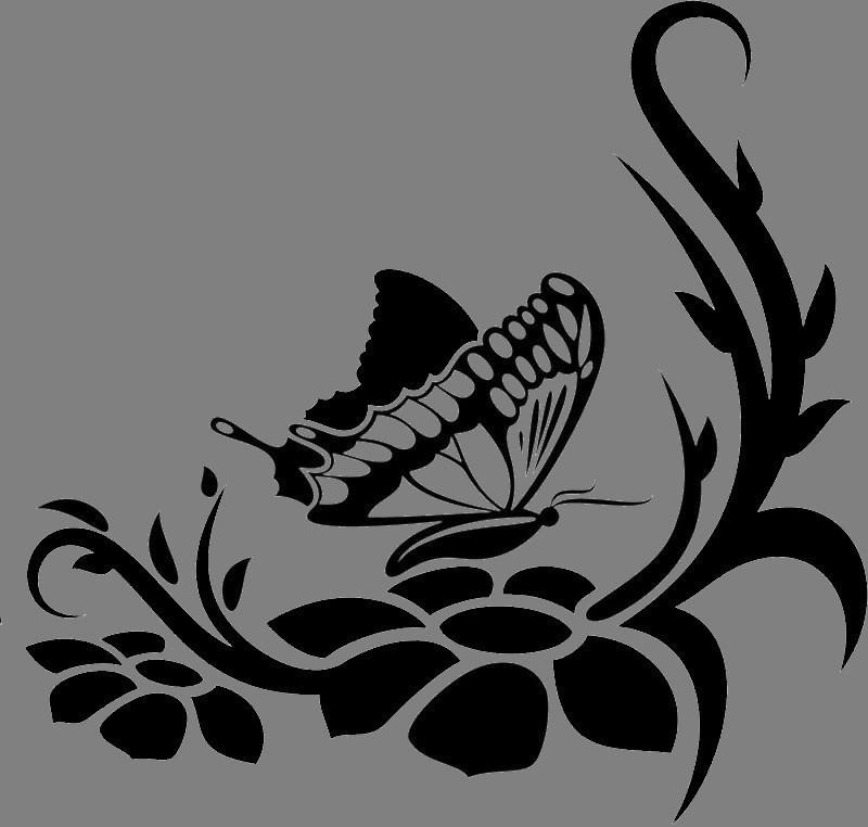 Виниловая интерьерная  наклейка Бабочка 4 (от 15х15 см)