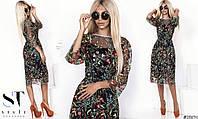 Удивительно легкое и воздушное платье в цветочный принт .