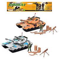 Игрушка для мальчиков  инерционная машинка ТанкK774-5 -инерционная, 30см, 2 цвета, солдат, с оруж., аксесс.,