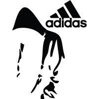 Виниловая наклейка - Adidas силуэт (от 10х15 см), фото 1