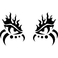Виниловая наклейка - Глаза демона (от 5х20 см), фото 1