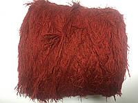 Пряжа лебяжий пух альпака 97 % ПА 3% цвет красный. Размер 180 метров в 100 граммах.