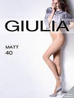 Женские легкие тончайшие матовые колготки GIULIA MATT 40 den KLG-500