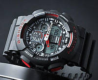 Мужские часы Casio G-Shock GA 100 Black Red