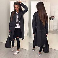 Cтильное пальто; кашемир; 3 цвета