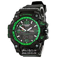 Электронные часы Casio G-Shock GWG-1000 Black-Green, спортивные часы Джи Шок черный-зеленый, реплика, отличное качество!