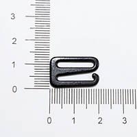 Регулятор с крючком металлический с черной эмалью 1,5 см