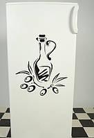 Виниловая наклейка на холодильник (Оливки) от 20х15 см