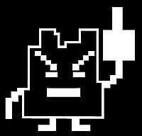 Виниловая наклейка - жест ( Fuck You Pixel ) (от 10х10 см)